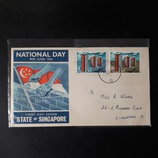 Singapore 1963 FirstDay Cover