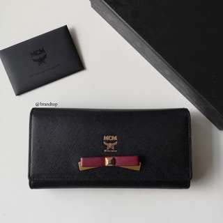 Authentic Mcm Black Long Wallet