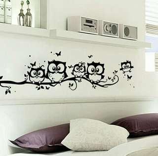 🍀Owl Family Baby Room Wall Sticker🍀