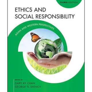 Ethics And Social Responsibility Third Edition Textbook