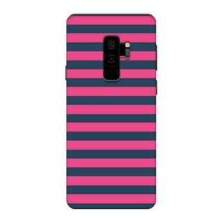 Pink & Blue Stripes Samsung Galaxy S9 Plus Custom Hard case