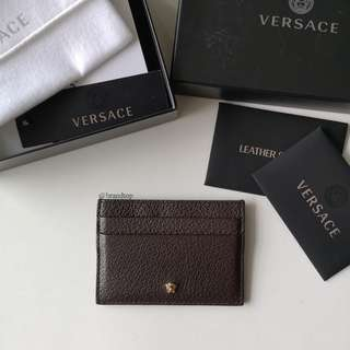 Authentic Versace Leather Card Case