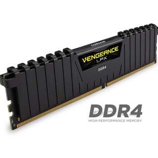 CORSAIR VENGEANCE LPX BLACK 3000MHZ 16GBX2 32GB DDR4 RAM
