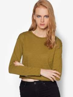 Topshop Long Sleeve Crop