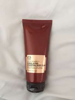 The body shop himalayan charcoal body clay mask