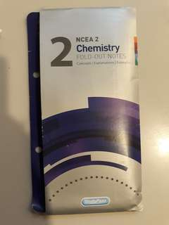 NCEA level 2 Chemistry fold-out notes