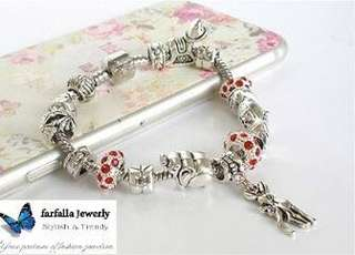 Red Crystal Charm European Style