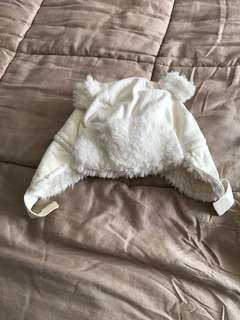 Baby's winter Hat white