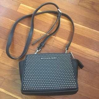 Michael Kors Micro-Stud Mini Selma Messenger Bag