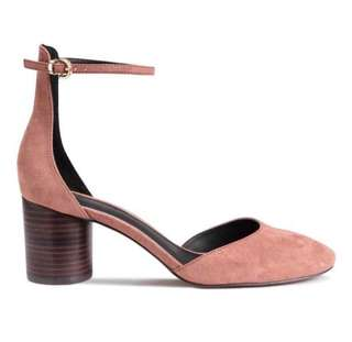 H&M Dusty Rose Block Heels