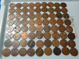 10X 1962 Malaya and British Borneo 1 Cent Coin ( Lot of 10 Pieces )