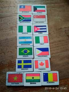 15 country erasers