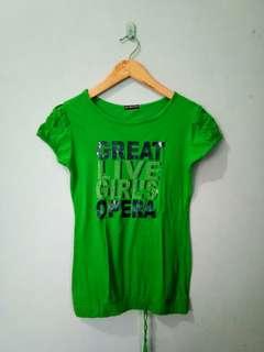 Long blouse green