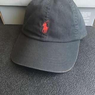 🚚 Polo Ralph Lauren 帽子 棒球帽 帆布 刺繡  黑色