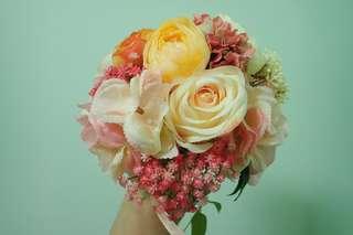 結婚花球絲花花球