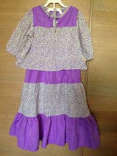Kurung modern (blouse and three tiered skirt)
