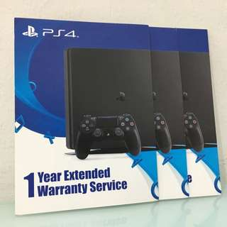 [PS4] 1 Year Extended Warranty Card