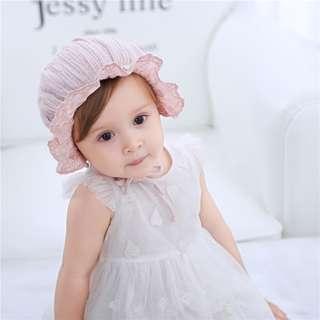 蕾絲鏤空嬰兒宮廷漁夫帽盆帽