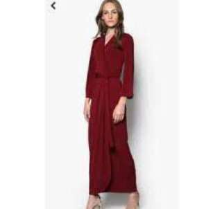 Lubna Wrap Dress in Chocolate