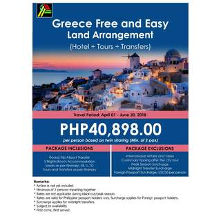 Greece Free and Easy Land Arrangement