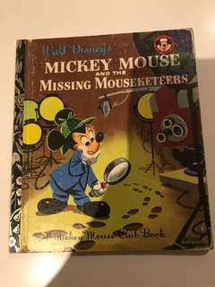 Mickey Mouse And The Missing Mouseketeers - Little Golden Book