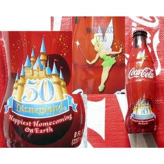 可口可樂05年美國迪士尼50週年包膠紀念樽一枝