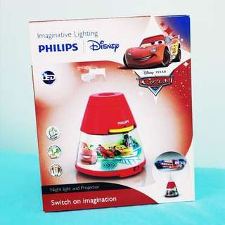 Disney Philips Cars Night Bed Light and Projector