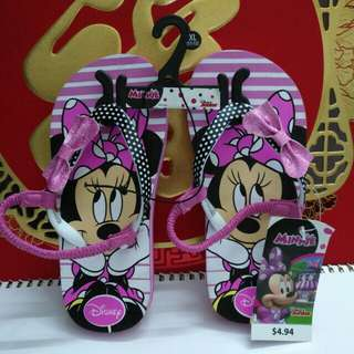 Disney Junior Girl's Minnie Mouse Flip Flops Sandals