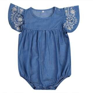 Baby Soft Denim Romper