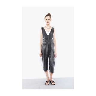 Young Hungry Free Pinstriped Boss Overalls
