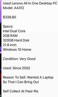 dell gaming /used lenovo computer