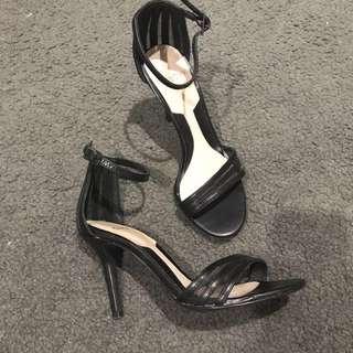 Sachi black heel sandals