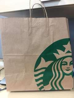 Sbux paper bag