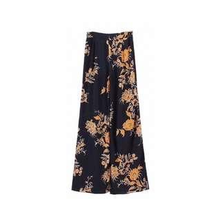 Bohemian Floral Wide Leg Pants
