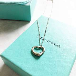 Tiffany & Co Open Heart Necklace 心型 心形 頸鏈 頸鍊