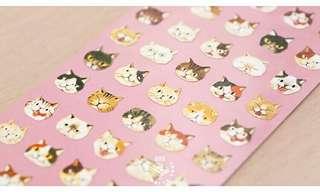Kitty head stickers