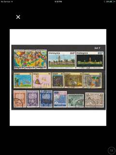 Malaya-Malaysia 1957-72 6 Complete Sets of Used Issues <Set 7>