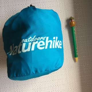 camping 方便輕盈吹氣枕(清新藍色)