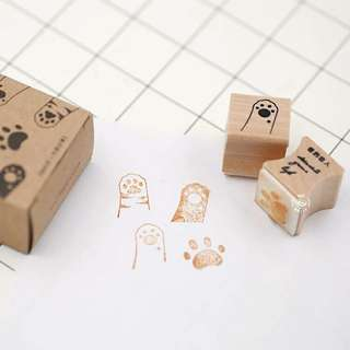 Paws wooden stamp