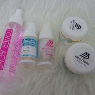 MD Glowing Skin AHA + PNCA + TONER