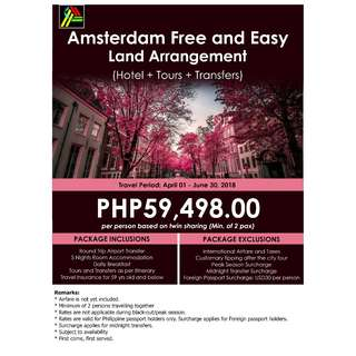 Amsterdam Free and Easy Land Arrangement