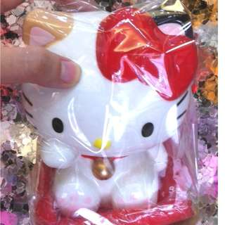 Hello Kitty Lucky Cat Ceramic Coin Bank with Cushion - Original