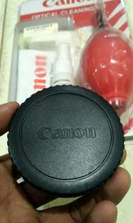 Eycup/tutup mounting kamera canon dslr & pembersih lensa merk canon