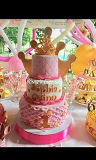 Personalized cake and cupcake