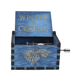 Games of Thrones Winter is Coming Collectible Music Box (Blue)