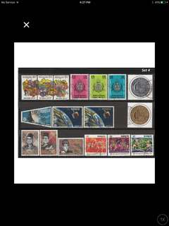 Malaya-Malaysia 1961-71 6 Complete Sets of Used Issues <Set 4>