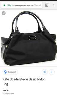 Authentic kate spade stevie nylon bag
