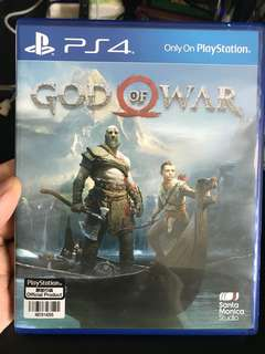 God of War 4 (PS4) with Unused Code