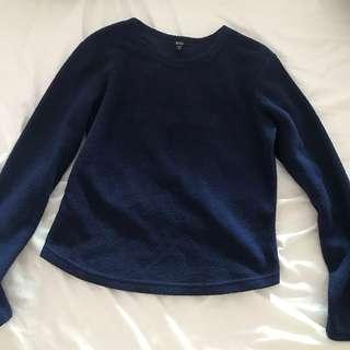 Mango blue pullover