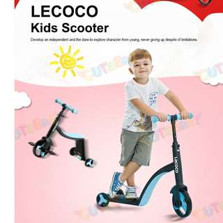 LECOCO (ITALY) ♥ Baby Tricycle/Stroller/ 3in1 Transformer Kids Scooter/X3